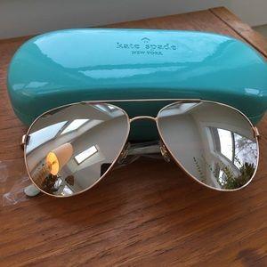 Kate Spade Blossom Aviator Sunglasses Rose Gold